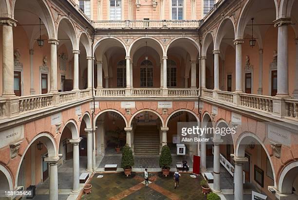 Courtyard of Palazzo Doria Tursi