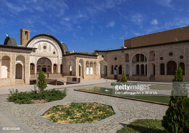 Courtyard of Tabatabei historical house, Isfahan Province, Kashan, Iran on October 9, 2016 in Kashan, Iran.