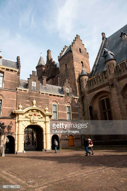 Courtyard of the Binnenhof political center of the Netherlands The Hague