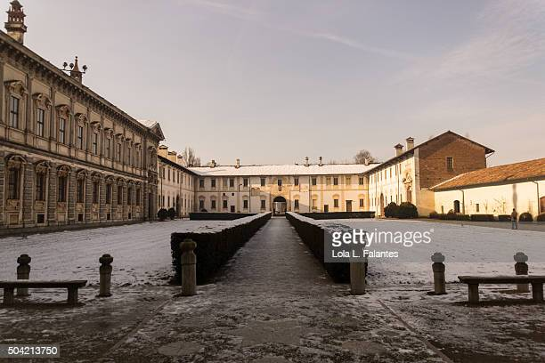 Courtyard of The Chartreuse of Pavia Monastery
