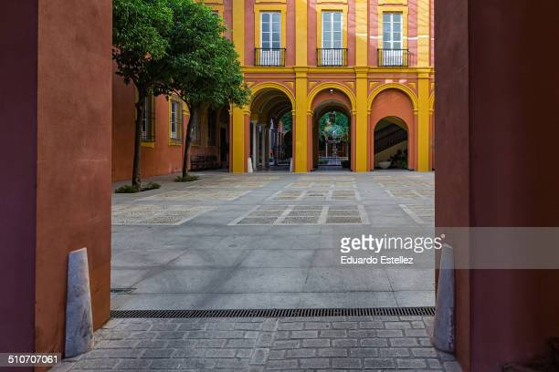 Courtyard of the ecclesiastical palace located in the old town of Sevilla. Spain.