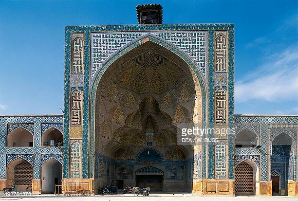 Courtyard of the Friday Mosque or Masjede Jame Isfahan Iran