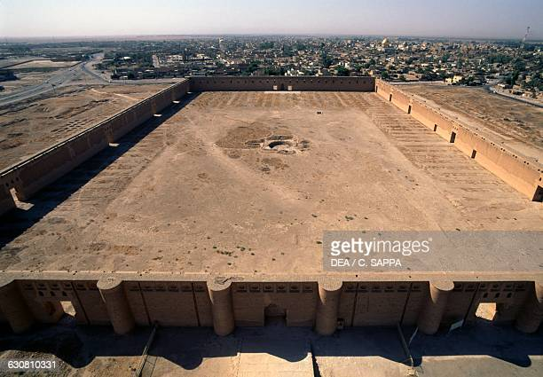 Courtyard of the Great mosque of Samarra Iraq 9th century