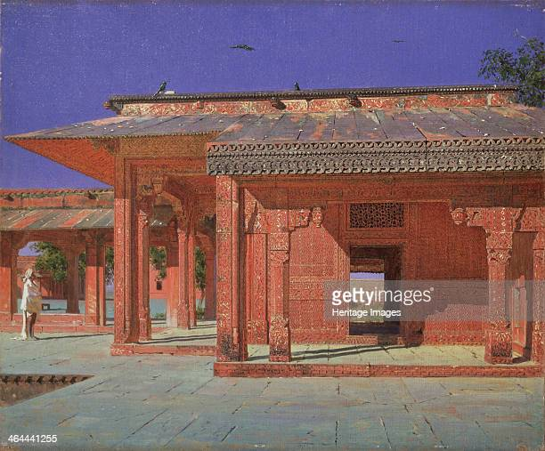 Courtyard of the Harem in the Fatehpur Sikri Imperial Palace 18741876 Found in the collection of the State Art Museum Ivanovo