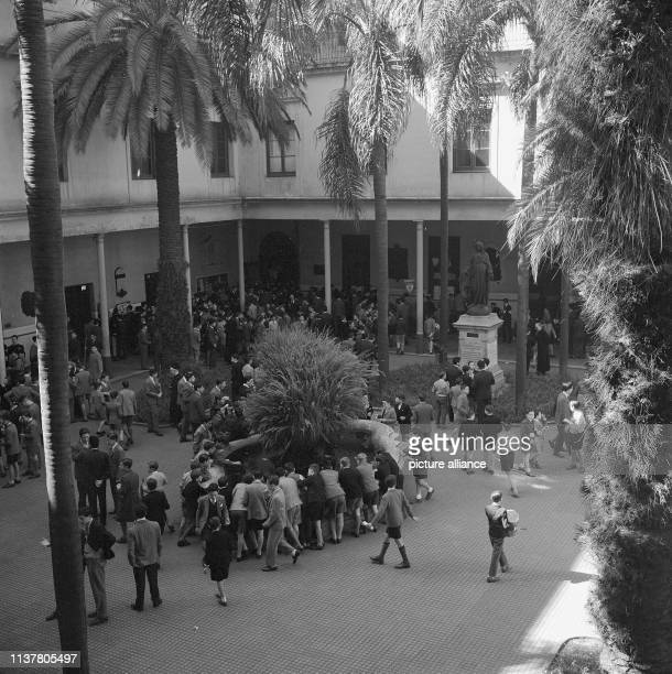 Courtyard of the Jesuit Collegiate Colegio del Salvador, Buenos Aires, Balvanera, Argentina, 1957. | usage worldwide