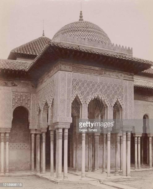 Courtyard of the Lions, Alhambra, Granada, 1880s-90s, Albumen silver print from glass negative, Photographs, Senan y Gonzalez .