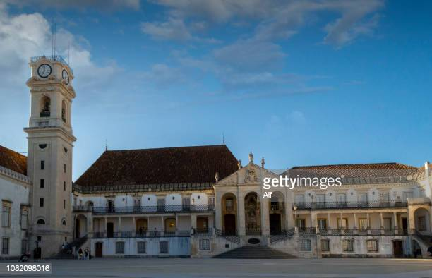 Courtyard of the Old University of Coimbra, Portugal