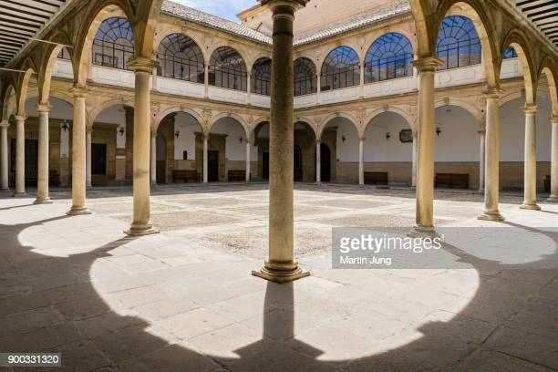 courtyard, old university, antigua universidad de baeza, renaissance, baeza, unesco world heritage site, jaen province, andalusia, spain - universidad stock pictures, royalty-free photos & images
