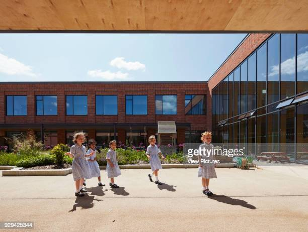 Courtyard play area. St Swithun's School, Winchester, United Kingdom. Architect: Walters and Cohen Ltd, 2017.