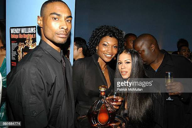 Courvoisier Bodyguard Nina Shay and Heather Hunter attend Wendy Williams CD Launch at Quo cohosted by Courvoisier Ambassadrice Nina Shay New York...