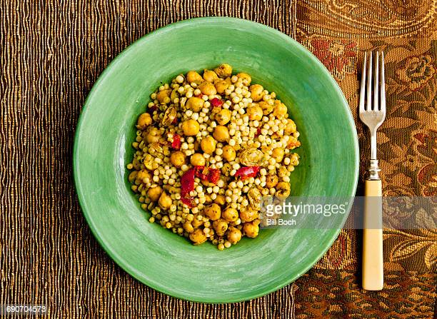 Couscous chickpea curry salad