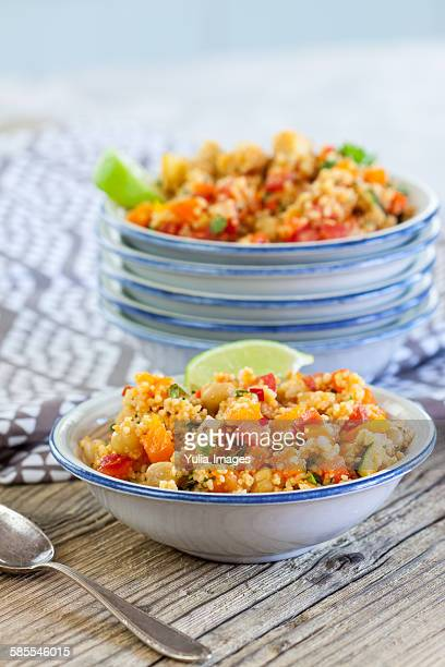 Couscous salad with lime and mint