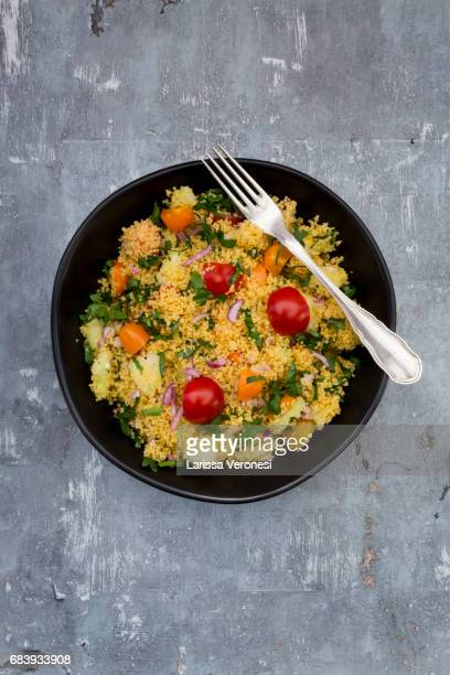 Couscous Salad with tomato, parsley, cucumber and red onions
