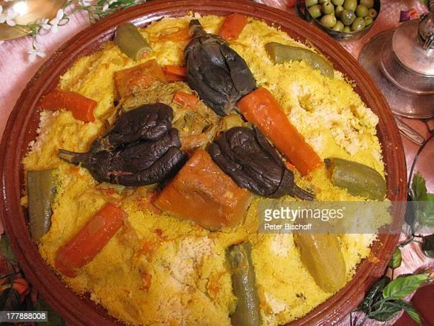 Couscous Villa Bled Targui Marrakesch Marokko Nordafrika Afrika Essen Reise