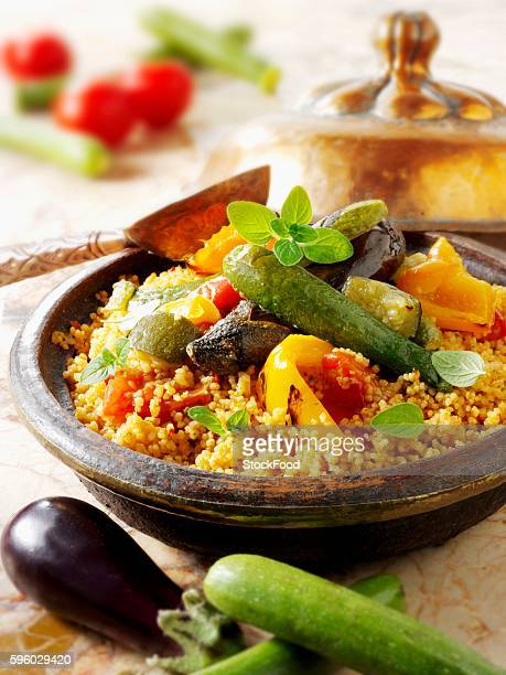 couscous with fried vegetables - tajine fotografías e imágenes de stock