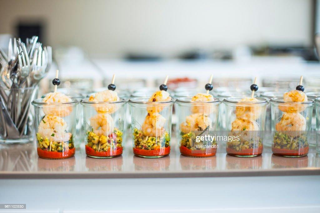 Couscous with shrimps : Stock Photo