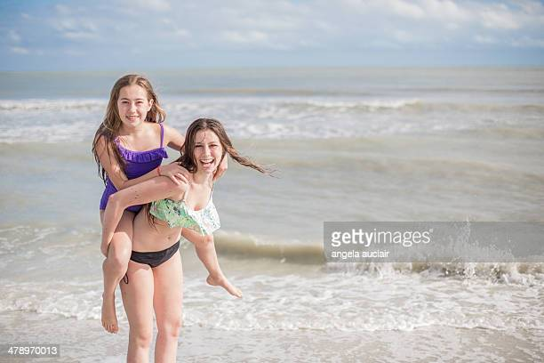 cousins on a beach