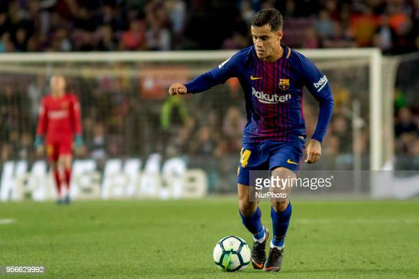 Coutinho during the spanish football league La Liga match between FC Barcelona and Villarreal at the Camp Nou Stadium in Barcelona Catalonia Spain on...