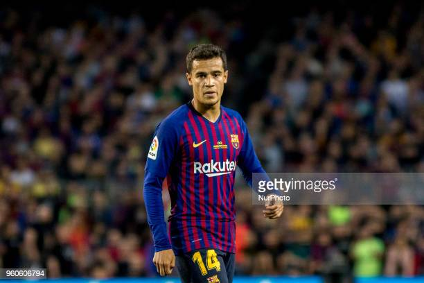 Coutinho during the spanish league match between FC Barcelona and Real Sociedad at Camp Nou Stadium in Barcelona Catalonia Spain on May 20 2018