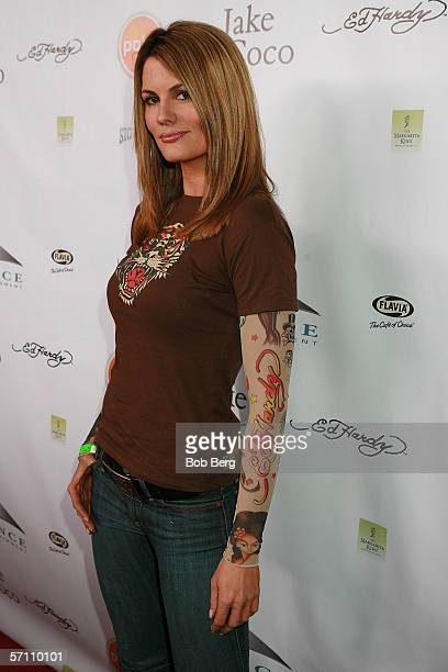 Coutney Hansen walks the red carpet at the album release party for Jake Coco on March 15 2006 in Los Angeles California