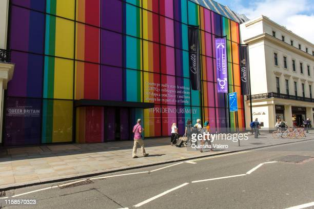 Coutts supports Pride in London by painting its building in Strand in the rainbow flag colours on June 26 2019 in London United Kingdom The first Gay...
