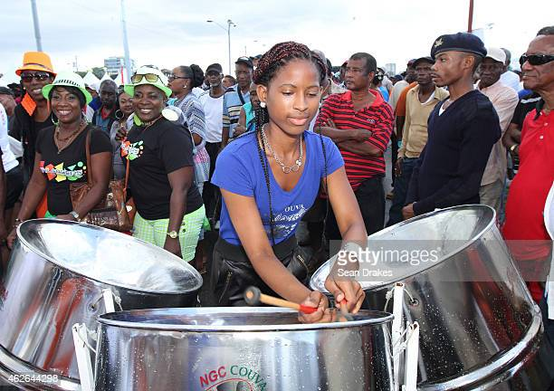 Couva Joylanders Steel Orchestra performs during National Panorama Semi-Finals in the Queens Park Savannah as part of Trinidad and Tobago Carnival on...