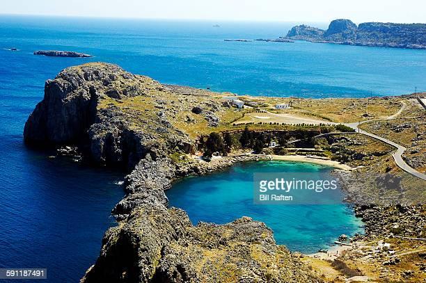 Cove below the Acropolis & Aegean Sea