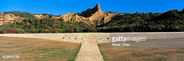 anzac cove commemorative site - anzac cove stock pictures, royalty-free photos & images