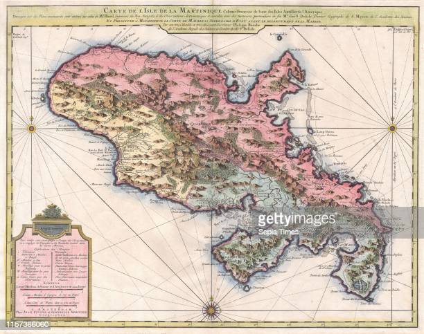 1742 Covens and Mortier Map of Martinique