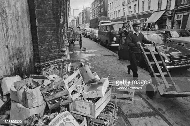 Covent Garden fruit and vegetable market in London, UK, during its relocation to the New Covent Garden Market at Nine Elms in southwest London, 26th...