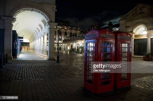 Covent Garden goes into lockdown for an unknown period of time on what is usually the busiest night of the week on March 20 2020 in London United...