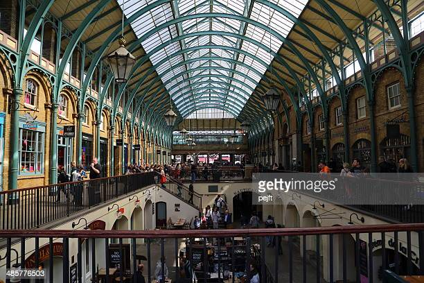 covent garden, london -indoor view - pejft stock pictures, royalty-free photos & images