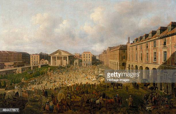 'Covent Garden Piazza and Market' c1755 View looking west towards the church of St Paul's Covent Garden showing the significant expansion of the...