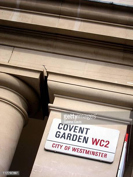 Covent Garden sign, London