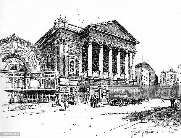 Covent Garden Theatre now The Royal Opera House Illustration by Holland Tringham Victorian artist and illustrator