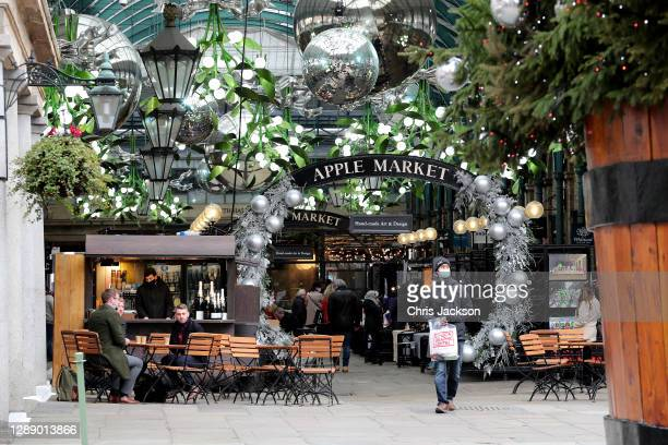Covent Garden welcomes back shoppers and diners after UK lockdown at Covent Garden on December 02, 2020 in London, England.