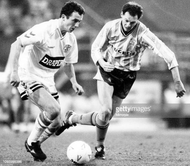 Coventry City 11 Southampton FC FA Cup match held at Highfield Road Kevin MacDonald and Barry Horne 26th January 1991