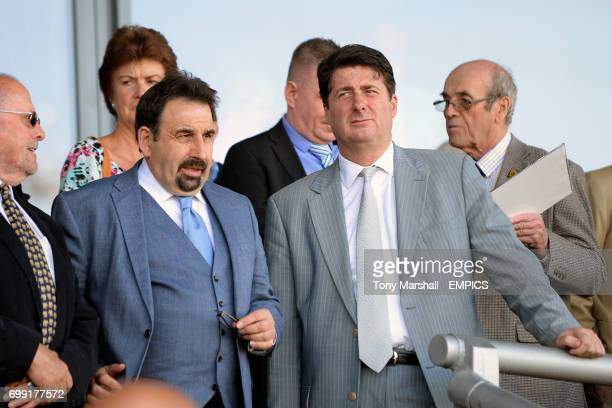 Coventry City director Steve Waggott and chief executive Tim Fisher in the stands