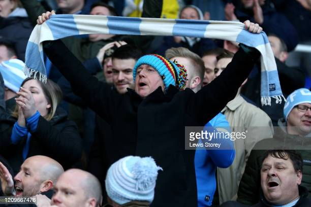 Coventry City fan shows his support during the Sky Bet League One match between Coventry City and Sunderland at St Andrews on March 01, 2020 in...