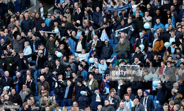 Coventry City fans before the Emirates FA Cup Fifth Round match between Brighton and Hove Albion and Coventry City at Amex Stadium on February 17...