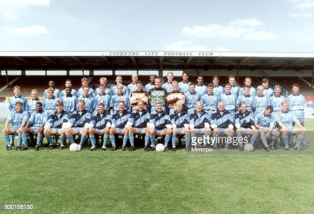 Coventry City FC Photocall 10th August 1992 Highfield Road 1992 / 1993 Season