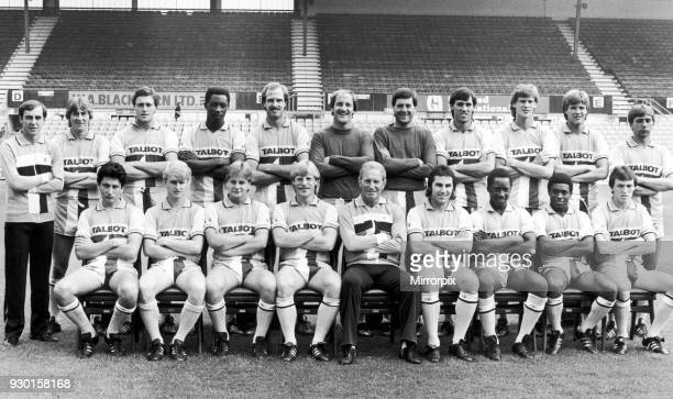 Coventry City first team photo Back Row George Dalton Gerry Daly Steve Whitton Garry Thompson Paul Dyson Jim Blyth Les Sealey Mark Hateley Gary...