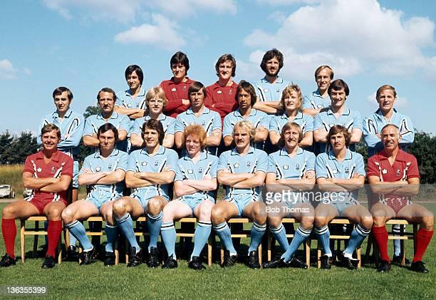 Coventry City Football Club team group at RytononDunsmore near Coventry circa August 1977 Back row left to right Graham Oakey Les Sealey Jim Blyth...