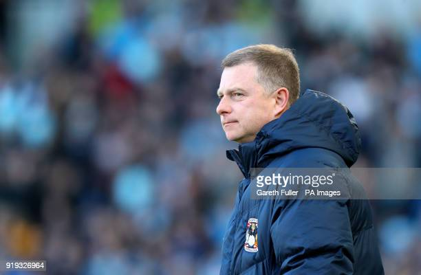 Coventry City manager Mark Robins ahead of the Emirates FA Cup Fifth Round match at The AMEX Stadium Brighton