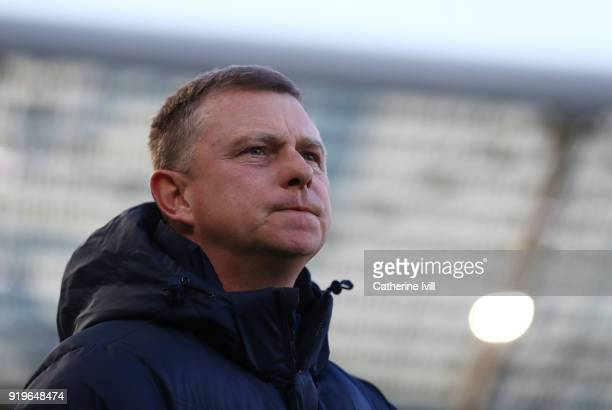 Coventry City manager Mark Robins during the Emirates FA Cup Fifth Round match between Brighton and Hove Albion and Coventry City at Amex Stadium on...