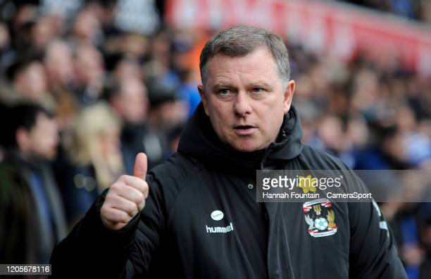 Coventry City manager Mark Robins during the Sky Bet League One match between Ipswich Town and Coventry City at Portman Road on March 7 2020 in...
