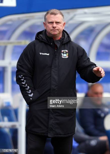 Coventry City manager Mark Robins reacts during the Sky Bet Championship match between Coventry City and Millwall at St Andrew's Trillion Trophy...