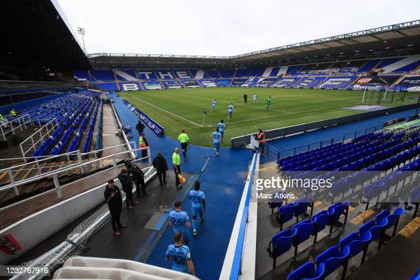 Coventry City players run out from the tunnel during the Sky Bet Championship match between Coventry City and Millwall at St Andrew's Trillion Trophy...
