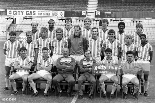 Coventry City squad for the 198687 Season Greg Downs Cyrille Regis Keith Houchen Brian Kilcline Trevor Peake Dave Bennett and Dave Phillips Micky...