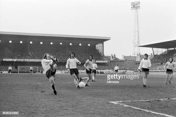 Coventry City v Derby County, FA Cup 4th round, final score 0-0, 27th January 1974.